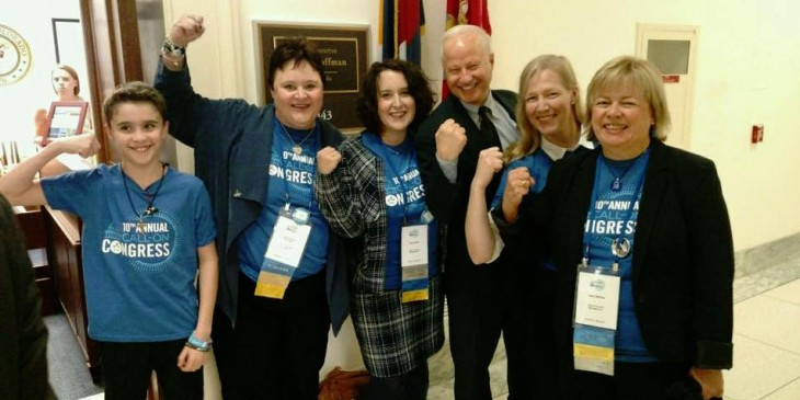 with Rep Coffman on Hill Day